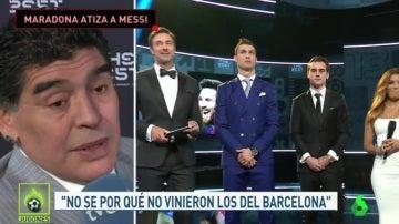 Maradona tras la gala 'The Best'