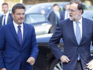 Mariano Rajoy y Rafael Catalá