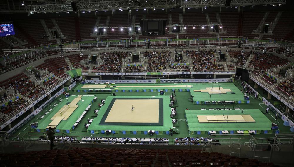 Vista de una pista de gimnasia en Estados Unidos