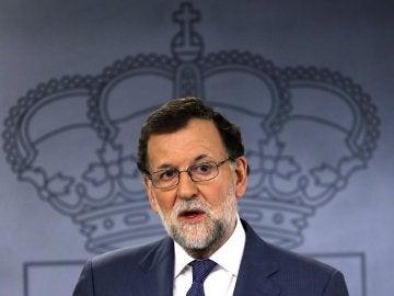 Mariano Rajoy, durante una rueda de prensa