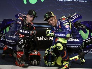 Valentino Rossi con Maverick Viñales