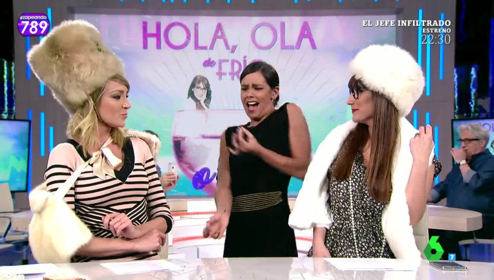 Cristina Pedroche deja 'heladas' a Cuqui y Puchi con su imitación de Chiquito de la Calzada