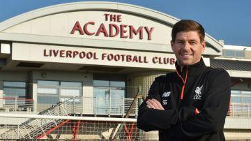 Steven Gerrard en la academia del Liverpool