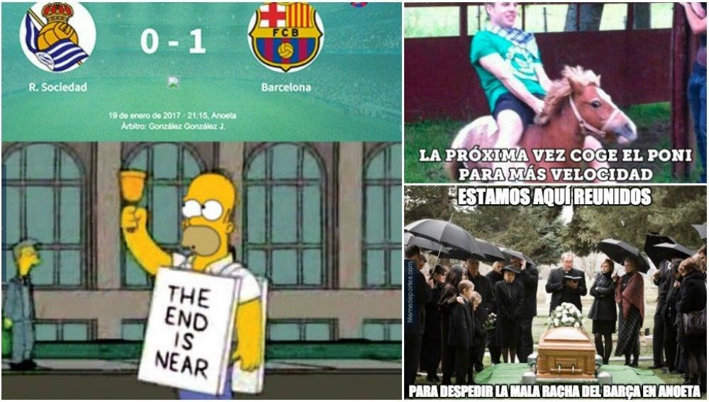 Los mejores 'memes' del Real Sociedad - FC Barcelona