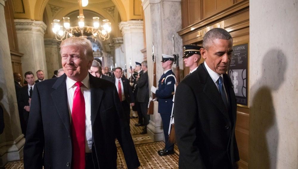 Donald Trump y Barack Obama