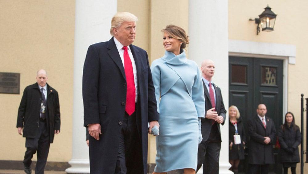 Donald Trump y su mujer, Melania