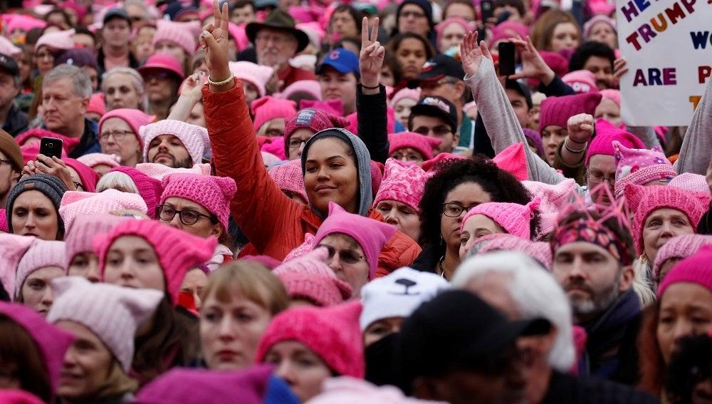 Miles de personas participan en Washington en la 'Marcha de las Mujeres' contra Donald Trump