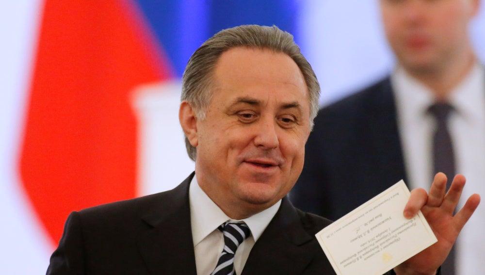 Vitaly Mutko, durante un acto