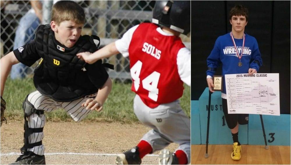 Adam Bender, el joven que lleva desde los ocho años jugando al béisbol con una pierna