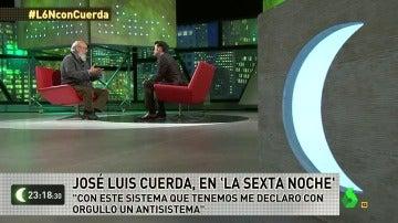 """Frame 65.584295 de: José Luis Cuerda: """"Con este sistema que considero genocida, yo me declaro antisistema"""""""