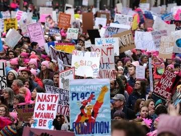 Marcha de las Mujeres en Washington contra Trump