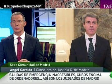 """Frame 5.643017 de: Ángel Garrido, sobre el estado de los juzgados de Madrid: """"Necesitamos los tres años de legislatura"""""""