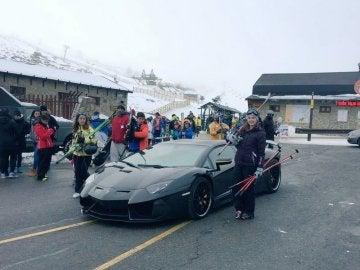 El Lamborghini Aventador en Navacerrada