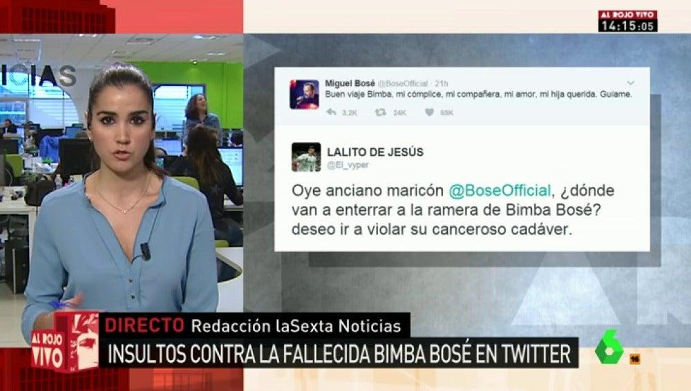 """Frame 25.613849 de: """"Lo celebro, maldito sodomita"""", """"anciano maricón""""... los lamentables insultos a Miguel Bosé tras la muerte de su sobrina Bimba"""