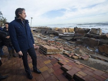 Destrozos en Almenara por el temporal marítimo