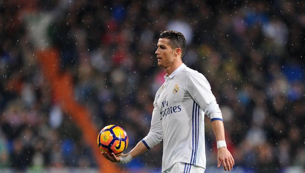 Cristiano Ronaldo, durante el partido ante la Real Sociedad