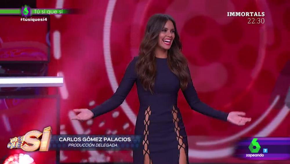 """Cristina Pedroche muestra el vestido """"refrigerado"""" que lucirá en la cuarta gala de Tú sí que sí"""