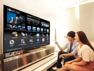 Ver la tele en pantalla gigante