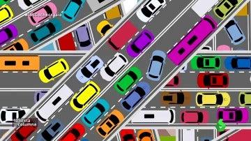 Frame 119.247445 de: ¿Cómo y por qué se forman los atascos en las carreteras? Una pista: el origen está en nuestro modelo de vida