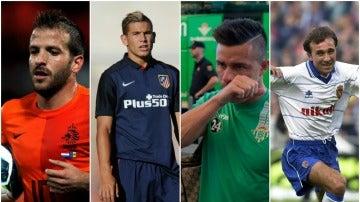 Van der Vaart, Hernández, Ruben Castro y Juanele