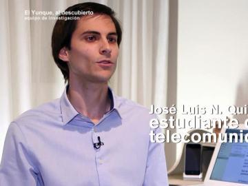 José Luis Quijada, estudiante de telecomunicaciones