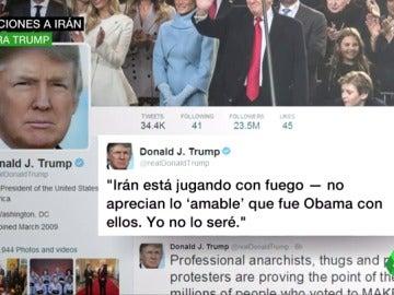 Frame 12.534108 de: Trump va más allá de Twitter con Irán y sanciona al país por poner a prueba un misil de medio alcance