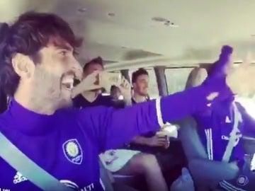Kaká lo da todo camino del entrenamiento