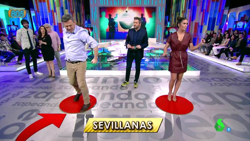 Miki Nadal y Cristina Pedroche bailan en Zapeando