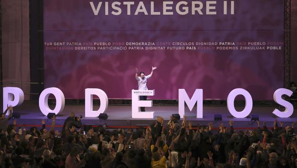 Pablo Iglesias en Vistalegre II
