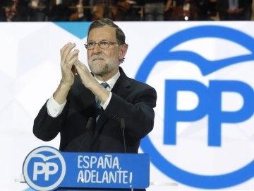 Mariano Rajoy durante su intervención en el congreso del PP