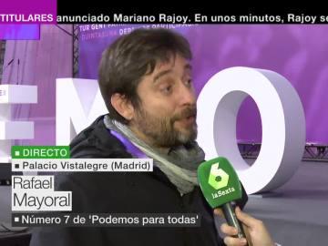 Rafa Mayoral, número siete de 'Podemos para todas'