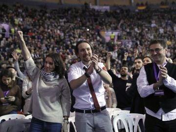 Pablo Iglesias, líder de Podemos, en Vistalegre II