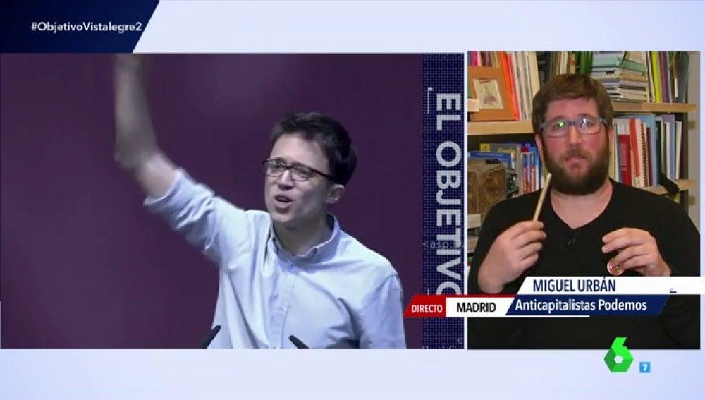"""Frame 104.65771 de: Miguel Urbán, sobre el futuro de Podemos: """"No podemos prescindir absolutamente de nadie, incluido Errejón"""""""