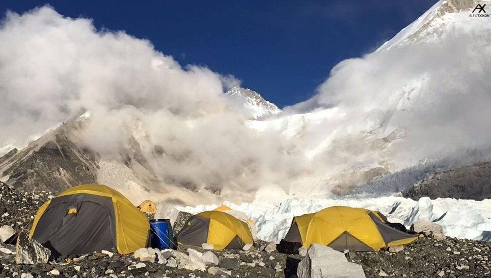 Foto del campamento base