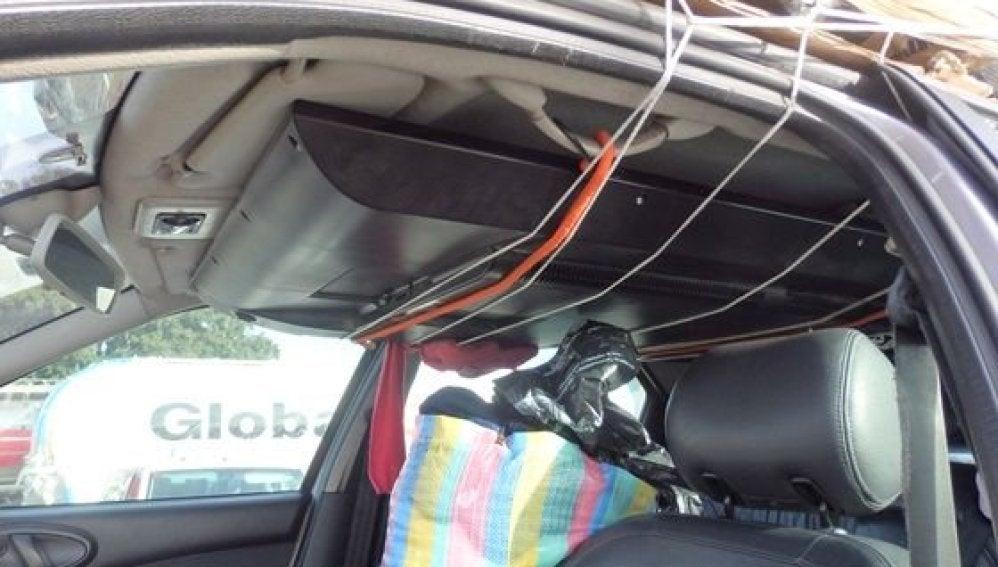 Televisor en el interior del coche