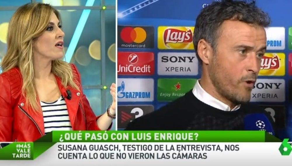 Susana Guasch explica el incidente de Luis Enrique con un periodista