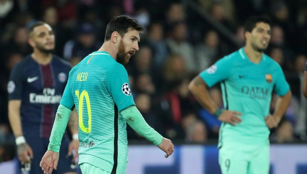 Leo Messi, en el Parque de los Príncipes