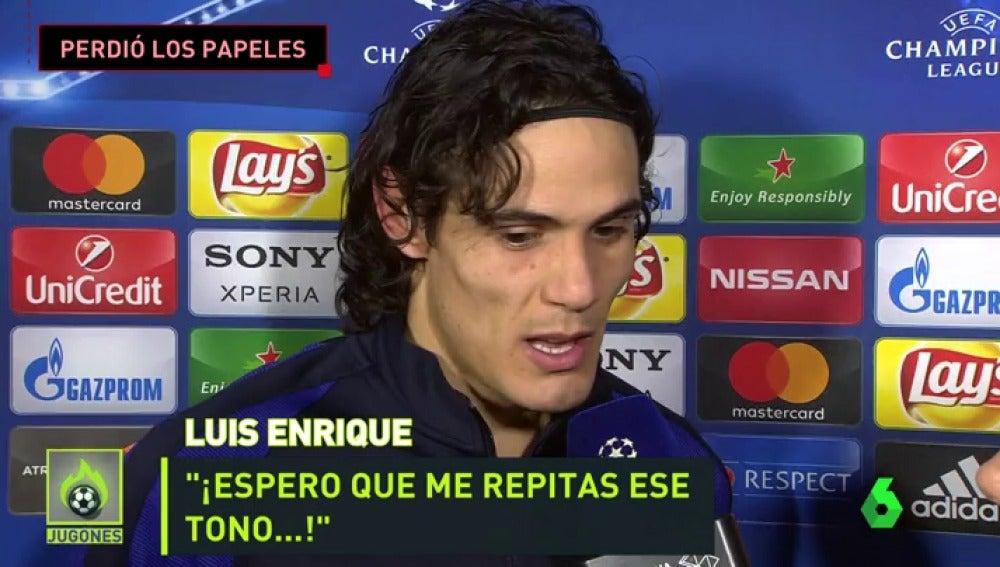 Frame 47.085677 de: Así perdió los nervios Luis Enrique en zona mixta con un periodista