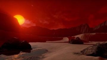 Imagen del TRAPPIST 1-d, uno de los siete exoplanetas descubiertos por la NASA