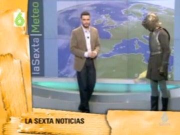Frame 117.238502 de: Las cabeceras más locas de Javier Gómez en laSexta Meteo