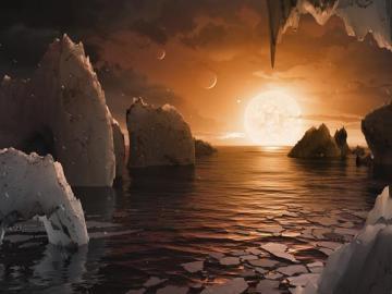 Cómo podría ser la superficie del exoplaneta TRAPPIST-1f