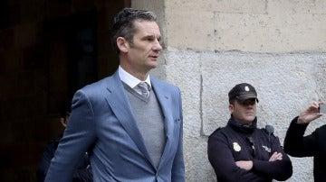 Urdangarin sale de los juzgados de Palma