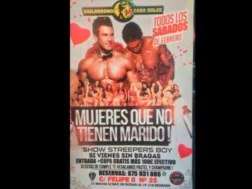 Cartel de la discoteca Bailódromo Caña Dulce