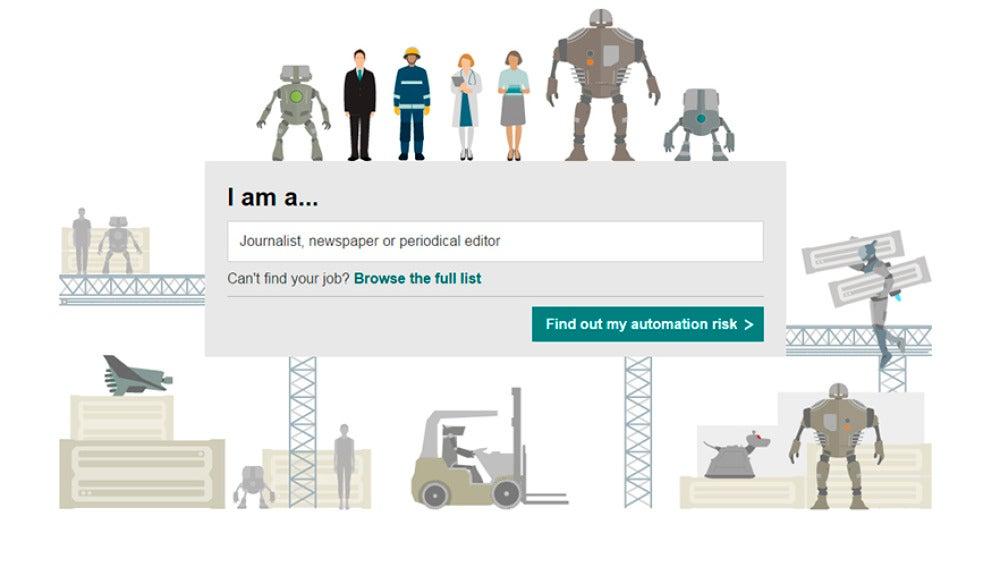 ¿Cuándo te robará el trabajo un robot?