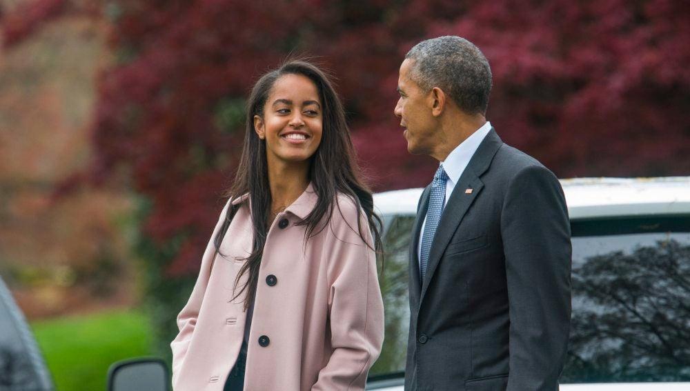 Obama junto a su hija