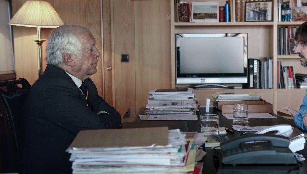 Carlos Espinosa con Jordi Évole