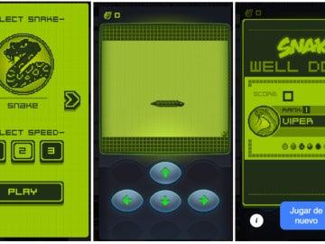 Snake de Nokia en Facebook Messenger
