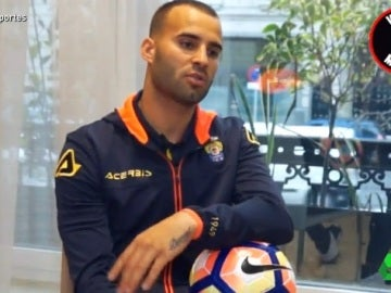 Jesé, jugador de Las Palmas, en una entrevista