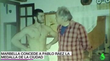 Pablo Ráez con su padre