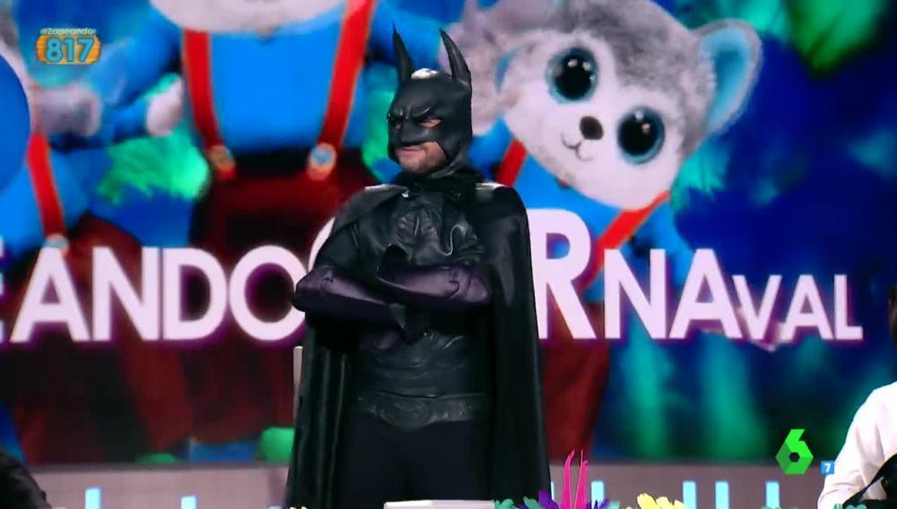 Frank Blanco, disfrazado de Batman